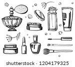 sketch outline set with women...   Shutterstock .eps vector #1204179325