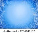 frost patterns on frozen window ... | Shutterstock . vector #1204181152