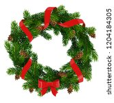 christmas wreath of xmas and... | Shutterstock .eps vector #1204184305