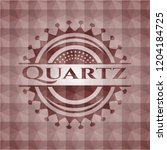 quartz red emblem with... | Shutterstock .eps vector #1204184725