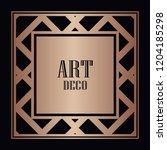 art deco border and frame....   Shutterstock .eps vector #1204185298