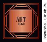 art deco border and frame....   Shutterstock .eps vector #1204185328