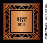 vintage retro style invitation...   Shutterstock .eps vector #1204185502