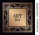 vintage retro style invitation...   Shutterstock .eps vector #1204185505