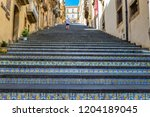 caltagirone  italy   september... | Shutterstock . vector #1204189045