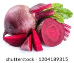 red beet or beetroot with... | Shutterstock . vector #1204189315