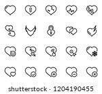 set of black vector icons ... | Shutterstock .eps vector #1204190455