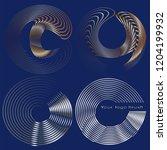 a template for vector logotype... | Shutterstock .eps vector #1204199932