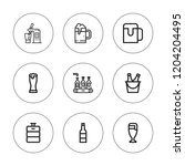 pint icon set. collection of 9... | Shutterstock .eps vector #1204204495
