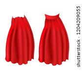 realistic red cloak with collar ... | Shutterstock .eps vector #1204209055