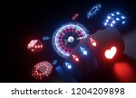 casino gambling concept with... | Shutterstock . vector #1204209898