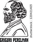 grigori yakovlevich perelman  a ... | Shutterstock .eps vector #120421405