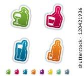 alcohol glasses for different... | Shutterstock .eps vector #120421936