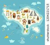 bali map vector. illustrated... | Shutterstock .eps vector #1204221715