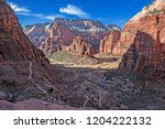 from the east mesa trail  above ... | Shutterstock . vector #1204222132