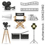 set icons cinematography cinema ... | Shutterstock .eps vector #120422482