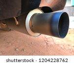 titanium exhaust pipe   Shutterstock . vector #1204228762