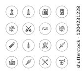 medieval icon set. collection... | Shutterstock .eps vector #1204231228