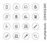 preparation icon set.... | Shutterstock .eps vector #1204231285