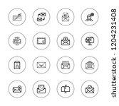 correspondence icon set.... | Shutterstock .eps vector #1204231408