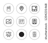 area icon set. collection of 9... | Shutterstock .eps vector #1204231468