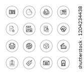 copy icon set. collection of 16 ... | Shutterstock .eps vector #1204234438