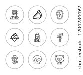 skull icon set. collection of 9 ... | Shutterstock .eps vector #1204234492