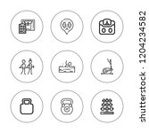 dumbbell icon set. collection... | Shutterstock .eps vector #1204234582