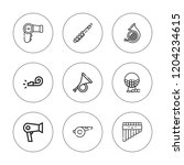blow icon set. collection of 9... | Shutterstock .eps vector #1204234615