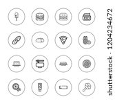 tasty icon set. collection of... | Shutterstock .eps vector #1204234672