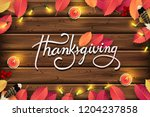 thanksgiving day banner... | Shutterstock .eps vector #1204237858