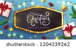 vector merry christmas and... | Shutterstock .eps vector #1204239262