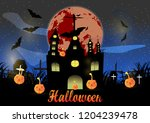 halloween pictures  pumpkin... | Shutterstock .eps vector #1204239478