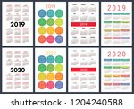 calendar 2019  2020 years.... | Shutterstock .eps vector #1204240588
