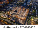 aerial drone view over huge oil ... | Shutterstock . vector #1204241452