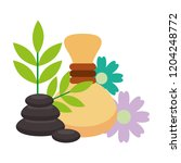 hot compresses stone and...   Shutterstock .eps vector #1204248772