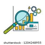 business email statistics... | Shutterstock .eps vector #1204248955