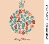 christmas ball gift box.... | Shutterstock .eps vector #120424915
