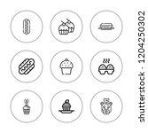 calories icon set. collection... | Shutterstock .eps vector #1204250302