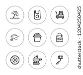 handle icon set. collection of... | Shutterstock .eps vector #1204250425