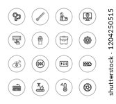 control icon set. collection of ... | Shutterstock .eps vector #1204250515