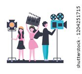 people team production movie... | Shutterstock .eps vector #1204251715
