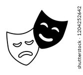 comedy drama masks theater... | Shutterstock .eps vector #1204252642