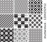 set of geometric seamless... | Shutterstock .eps vector #1204252912