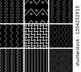 a set of geometric patterns | Shutterstock .eps vector #1204252915