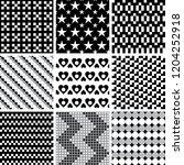 set of geometric seamless... | Shutterstock .eps vector #1204252918