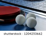 ping pong. accessories for... | Shutterstock . vector #1204253662