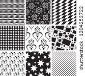 set of geometric seamless... | Shutterstock .eps vector #1204253722