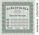 green certificate template.... | Shutterstock .eps vector #1204254748