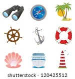 sea icons. vector set | Shutterstock .eps vector #120425512